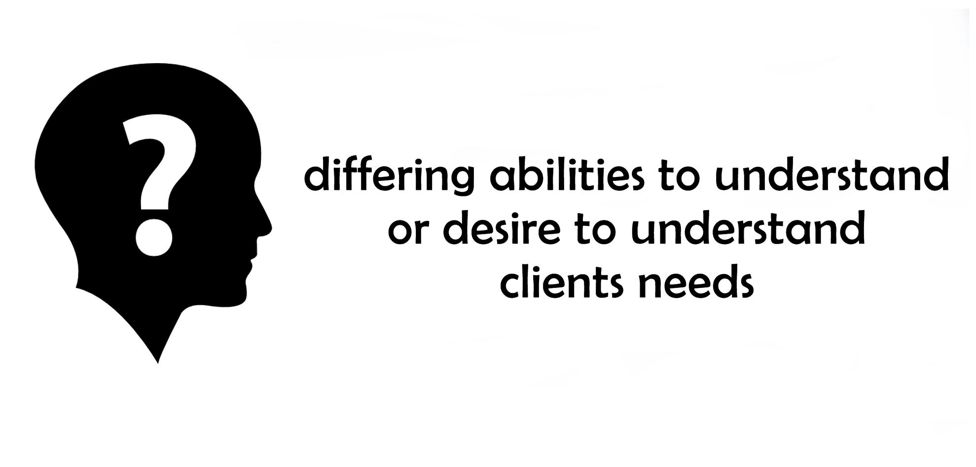 differing desire to understand clients needs
